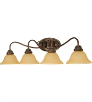 "Picture for category Bathroom Vanity 4 Light Fixtures With Sonoma Bronze Finish Metal Material Medium Bulb 34"" 240 Watts"