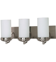 "Picture for category Bathroom Vanity 3 Light Fixtures With Brushed Nickel Finish Iron Material G24q/1 Bulb 21"" 39 Watts"