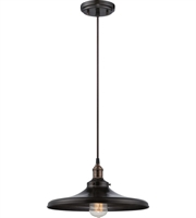 Picture for category Pendants 1 Light With Rustic Bronze Finish Metal Material E26 14 inch 100 Watts