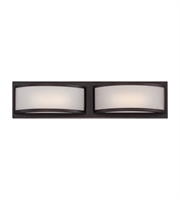 "Picture for category Wall Sconces 2 Light Fixtures With Georgetown Bronze Finish Iron Material Rectangular LED Bulb 21"" 9.6 Watts"