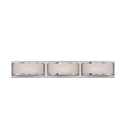 "Picture for category Wall Sconces 3 Light Fixtures With Polished Nickel Finish Iron Material Rectangular LED Bulb 28"" 14.4 Watts"