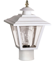 "Picture for category Outdoor Post 1 Light Fixtures With White Tone Finish Medium Bulb Type 8"" 60 Watts"
