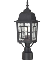 "Picture for category Outdoor Post 1 Light Fixtures With Textured Black Finish Aluminum Material Medium Bulb 6"" 100 Watts"