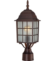 "Picture for category Outdoor Post 1 Light Fixtures With Rustic Bronze Finish Aluminum Material Medium Bulb 6"" 100 Watts"