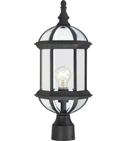 "Picture for category Outdoor Post 1 Light Fixtures With Textured Black Finish Aluminum Material Medium Bulb 8"" 100 Watts"