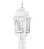 "Picture for category Outdoor Post 1 Light Fixtures With White Finish Aluminum Material Medium Bulb 6"" 100 Watts"