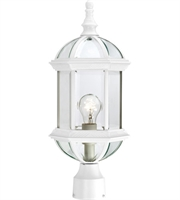 "Picture for category Outdoor Post 1 Light Fixtures With White Finish Aluminum Material Medium Bulb 8"" 100 Watts"
