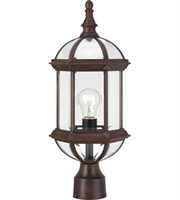 "Picture for category Outdoor Post 1 Light Fixtures With Rustic Bronze Finish Aluminum Material Medium Bulb 8"" 100 Watts"