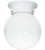 "Picture for category Outdoor Wall Sconces 1 Light Fixtures With White Tone Finish Medium Bulb 6"" 60 Watts"