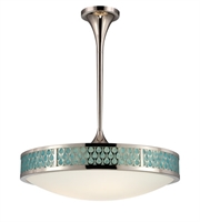 "Picture for category Pendants 5 Light Fixtures With Polished Nickel Finish Metal Material KolourOne Bulb 25"" 24 Watts"