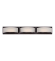 "Picture for category Wall Sconces 3 Light Fixtures With Georgetown Bronze Finish Iron Material Rectangular LED Bulb 28"" 14.4 Watts"