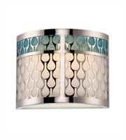 "Picture for category Wall Sconces 1 Light Fixtures With Polished Nickel Finish Metal Material KolourOne Bulb 7"" 4.8 Watts"