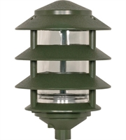 "Picture for category Outdoor Pendant 1 Light Fixtures With Green Finish Aluminum Glass Material A19 Bulb 6"" 100 Watts"