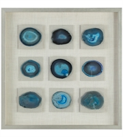 Picture for category Uttermost 04131 Decor Blues with Beige and Siler Agate/Pine/Glass/Linen Cerulean