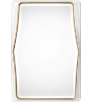 Picture for category Uttermost 09323 Mirrors Gloss White and Gold Leaf Glass/PU/MDF/Paper Colleen