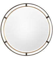 Picture for category Uttermost 09332 Mirrors Rustic Bronze with Antiqued Gold MDF/Glass/Iron Carrizo