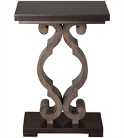 Picture for category Uttermost 25979 Tables Warm Ebony Stain and Taupe Gray Rubber Wood/MDF Parina