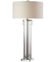 Picture for category Uttermost 27731 Table Lamps Clear Acrylic with Brushed Nickel Steel/Crystal/Acrylic Monette
