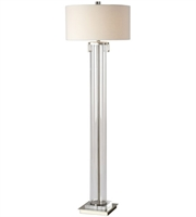 Picture for category Uttermost 28160 Floor Lamps Brushed Nickel Steel/Crystal/Acrylic Monette