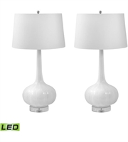 Picture for category Dimond Lighting 242/S2-LED Table Lamps White Ceramic Del Mar