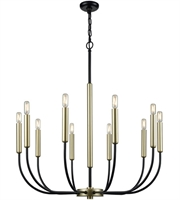 Picture for category Dimond Lighting D3545 Chandeliers Black and Soft Gold Metal Transatlantique