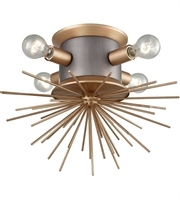 Picture for category Dimond Lighting D3572 Flush Mounts Weathered Zinc and Antique Gold Metal Lucy Spike