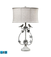 Picture for category Table Lamps 1 Light With Antique Whte Finish Iron Material Medium Base Bulb Type 31 inch 13.5 Watts