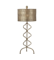 Picture for category Table Lamps 1 Light With Gold Leaf Finish Metal Material Medium Base Bulb Type 34 inch 150 Watts