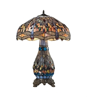 Picture for category Table Lamps 2 Light With Tiffany Bronze Glass and Metal Medium Base 26 inch 120 Watts
