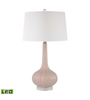 Picture for category Table Lamps 1 Light With Pastel Pink Ceramic Acrylic Medium Base 30 inch 9.5 Watts