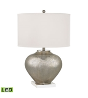 Picture for category Table Lamps 2 Light With Antique Silver Mercury Glass Crystal Medium Base 28 inch 19 Watts