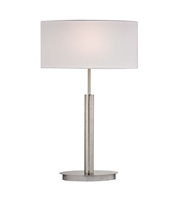 Picture for category Table Lamps 1 Light With Satin Nickel Finish Metal Material Medium Base Bulb Type 24 inch 100 Watts
