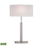 Picture for category Table Lamps 1 Light With Satin Nickel Finish Metal Material Medium Base Bulb Type 24 inch 9.5 Watts