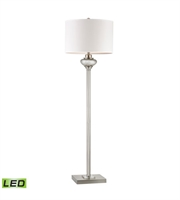 Picture for category Floor Lamps 1 Light With Antique Silver Mercury Glass Crystal Accents Medium Base 60 inch 300 Watts