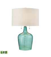 Picture for category Table Lamps 2 Light With Seabreeze Blue Finish Glass Material Medium Base Bulb Type 26 inch 19 Watts