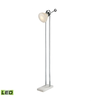 Picture for category Floor Lamps 1 Light With White and Polished Nickel Alabaster and Glass and Metal Candelabra Base 53 inch 4.8 Watts