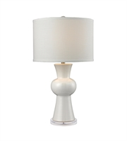 Picture for category Table Lamps 1 Light With Gloss White Finish Earthenware Material Medium Base Bulb Type 28 inch 150 Watts