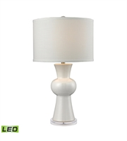 Picture for category Table Lamps 1 Light With Gloss White Finish Earthenware Material Medium Base Bulb Type 28 inch 9.5 Watts