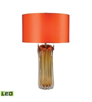 Picture for category Table Lamps 2 Light With Amber Finish Glass Material Medium Base Bulb Type 25 inch 19 Watts