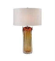 Picture for category Table Lamps 2 Light With Amber Finish Glass Material Medium Base Bulb Type 25 inch 120 Watts