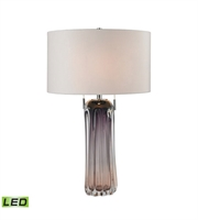 Picture for category Table Lamps 2 Light With Purple Finish Glass Material Medium Base Bulb Type 25 inch 19 Watts