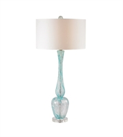 Picture for category Table Lamps 1 Light With Light Blue Glass and Acrylic Medium Base 36 inch 150 Watts