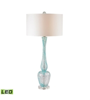 Picture for category Table Lamps 1 Light With Light Blue Glass and Acrylic Medium Base 36 inch 9.5 Watts