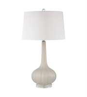 Picture for category Table Lamps 1 Light With Off White Ceramic Acrylic Medium Base 30 inch 150 Watts