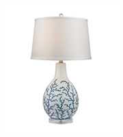 Picture for category Table Lamps 1 Light With Pale Blue White Ceramic Acrylic Medium Base 27 inch 150 Watts