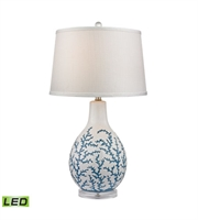 Picture for category Table Lamps 1 Light With Pale Blue White Ceramic Acrylic Medium Base 27 inch 9.5 Watts