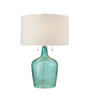 Picture for category Table Lamps 2 Light With Seabreeze Blue Finish Glass Material Medium Base Bulb Type 26 inch 120 Watts
