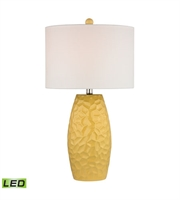 Picture for category Table Lamps 1 Light With Sunshine Yellow Ceramic Metal Medium Base 27 inch 9.5 Watts