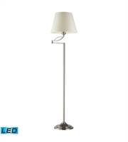 Picture for category Floor Lamps 1 Light With Satin Nickel Finish Steel Material Medium Base Bulb Type 56 inch 13.5 Watts