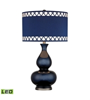 Picture for category Table Lamps 1 Light With Navy Blue With Black Nickel Ceramic Metal Medium Base 28 inch 9.5 Watts
